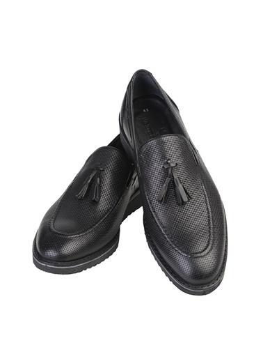 White Stone Ayakkabı Siyah Minik Hasır Siyah Yakma Siyah